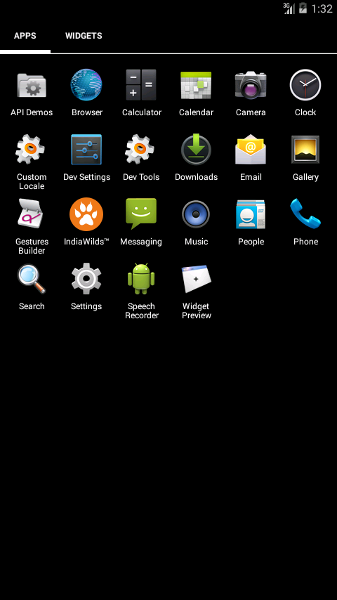 IndiaWilds android app 4inchHomeScreen