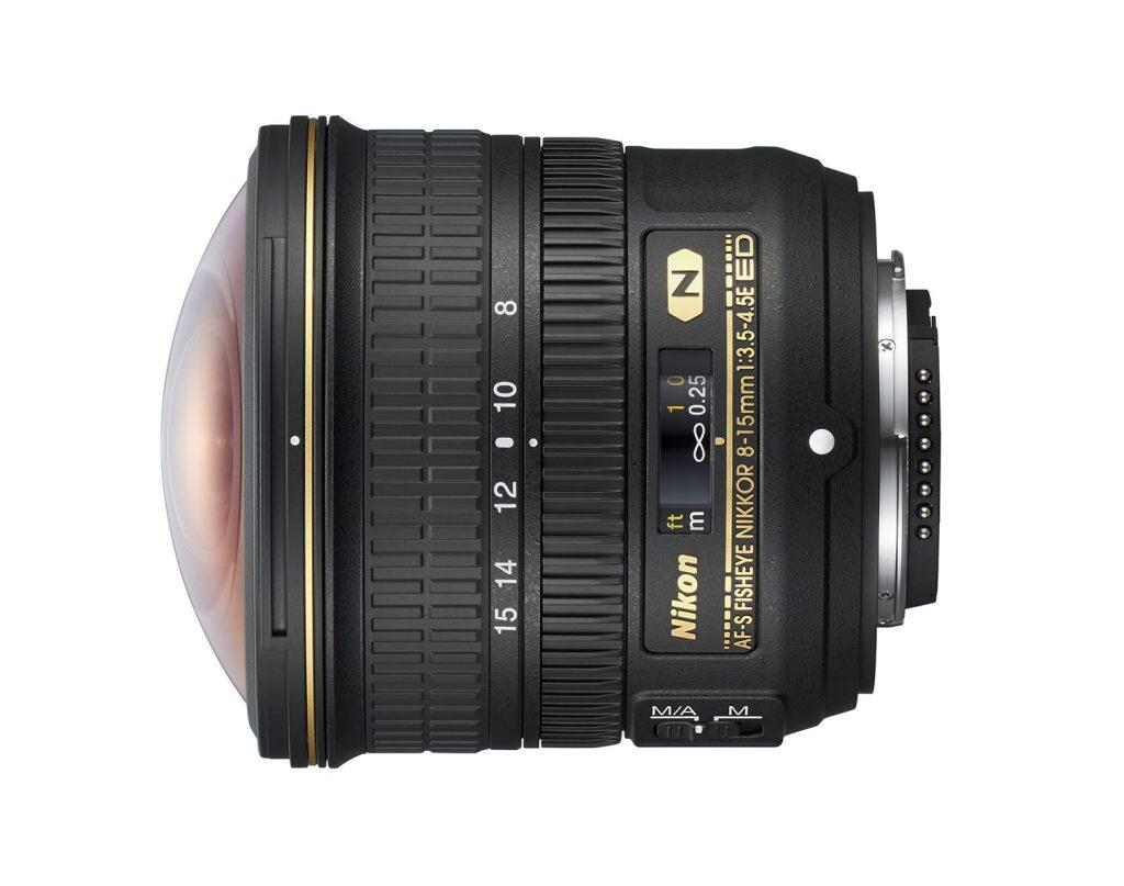 AF-S fisheye 8-15mm f3.5-4.5E ED circular fisheye zoom lens