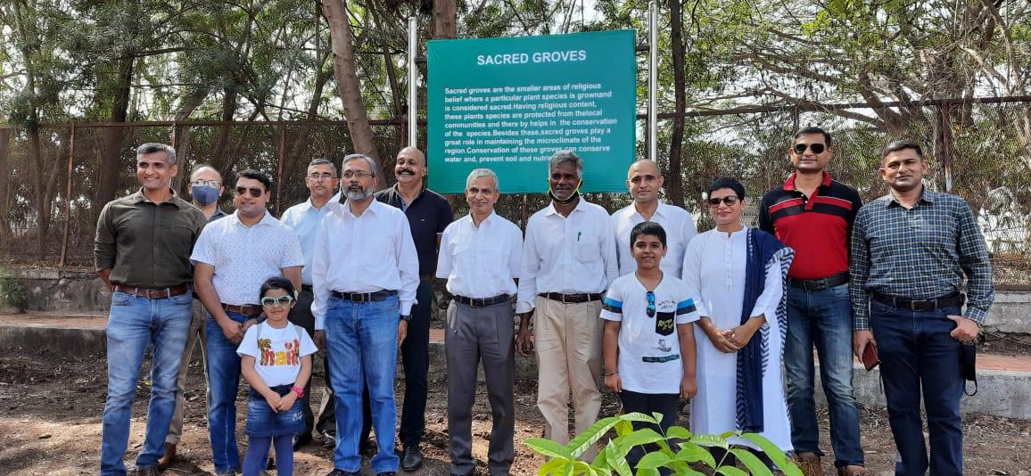 Plantation of Sacred Groves in MILIT Pune