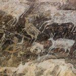Prehistoric rock paintings in Bhimbetka