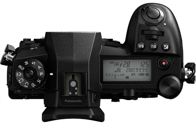 Panasonic G9 top LCD