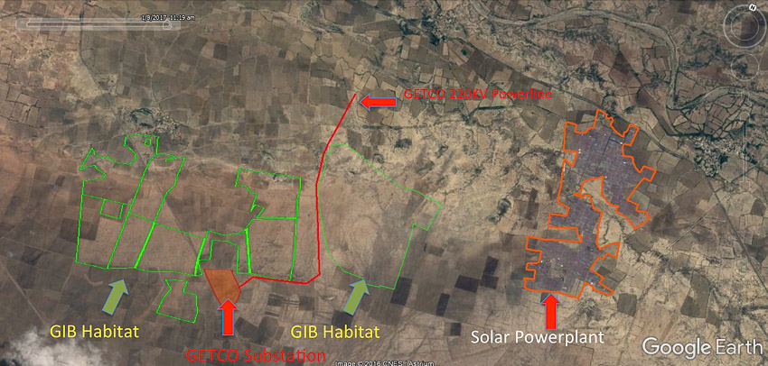 Powerplant and GIB habitat map