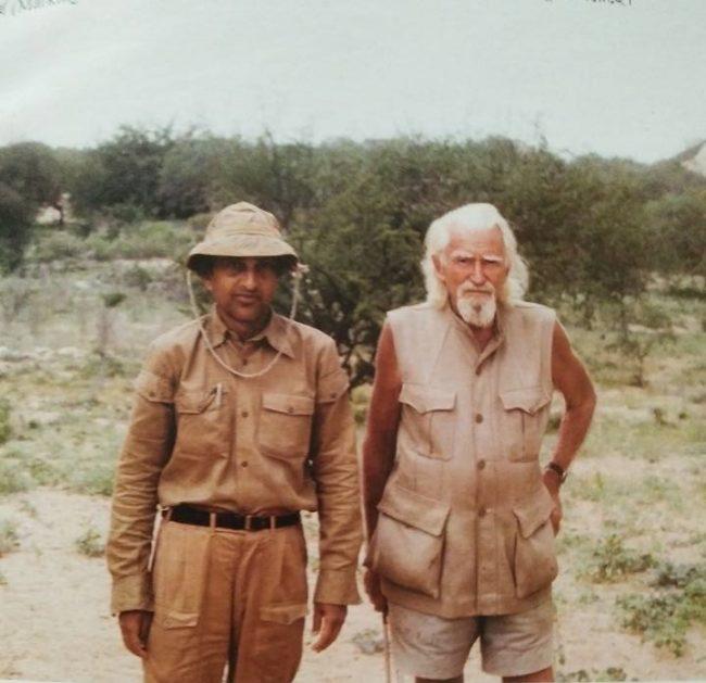 Ratan Lal Brahmachary with George Adamson