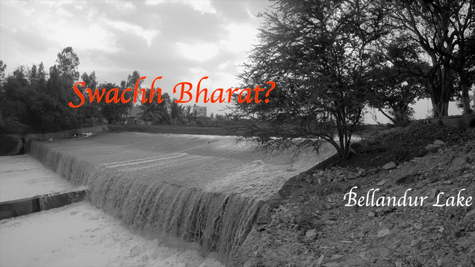 Swachh Bharat? Bellandur Lake Bangalore