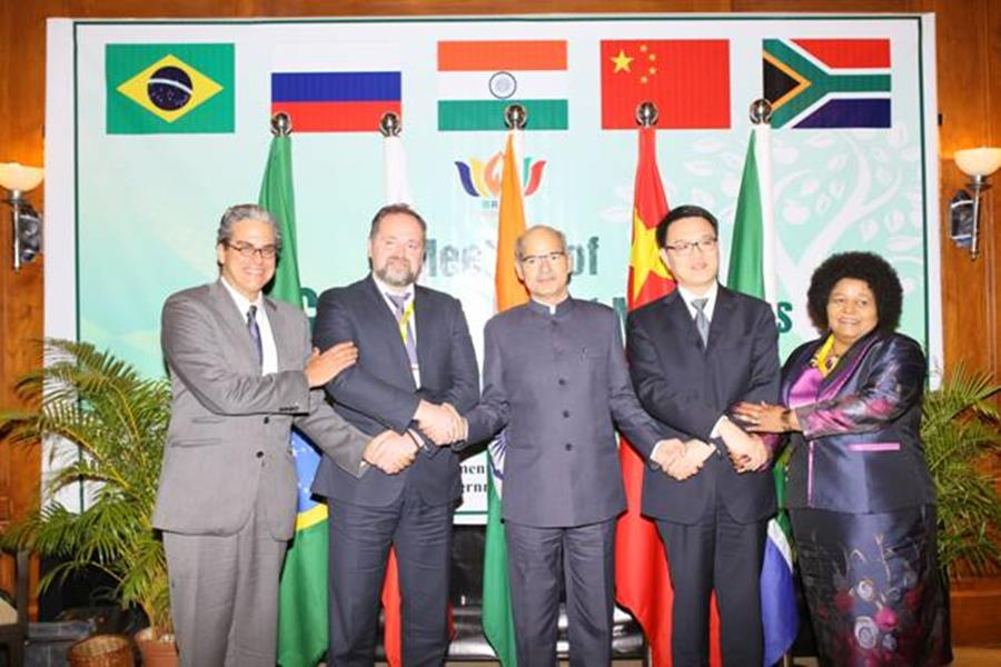 The Environment Ministers of BRICS countries (Brazil, Russia, India, China and South Africa)