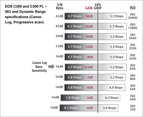 C300 dynamic range (source Canon)