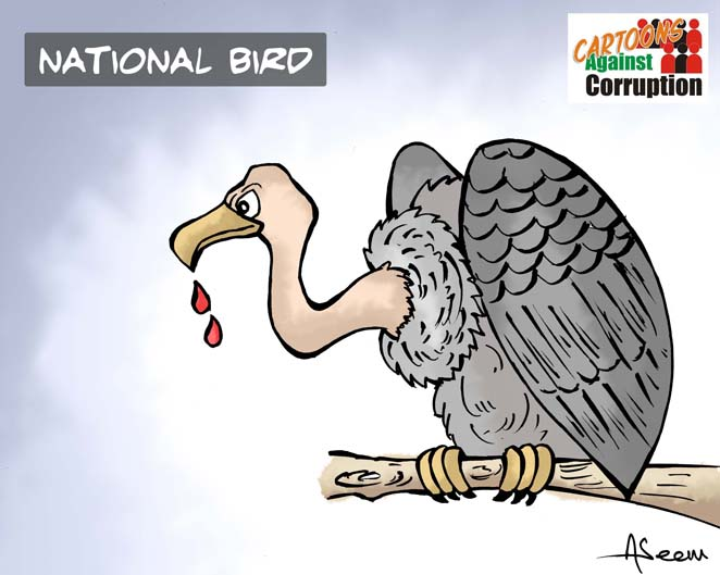 Aseem Trivedi's version of National bird