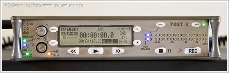 Sound Devices 702T recorder front panel