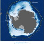 Shifting winds and warm air temperatures contributed to the record-low extent of sea ice around Antarctica in November.