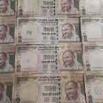 Demonitisation : 500 Rupee notes places side by side