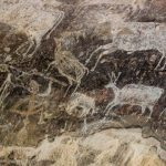 Prehistoric rock paintings in Bhimbetka