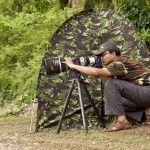 Sabyasachi photographing infront of his hide